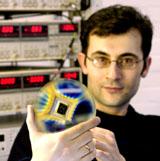 Dr Ponomarenko with graphene transistor