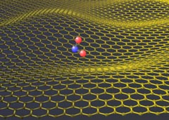 NO2 molecule on graphene